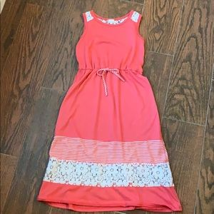 Other - 🖐🏻Girls Sleeveless Coral Dress